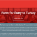 indrejseblanket til Tyrkiet